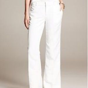 BR white Linen Trousers